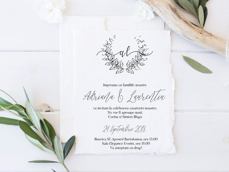 invitatie pe hartie realizata manual