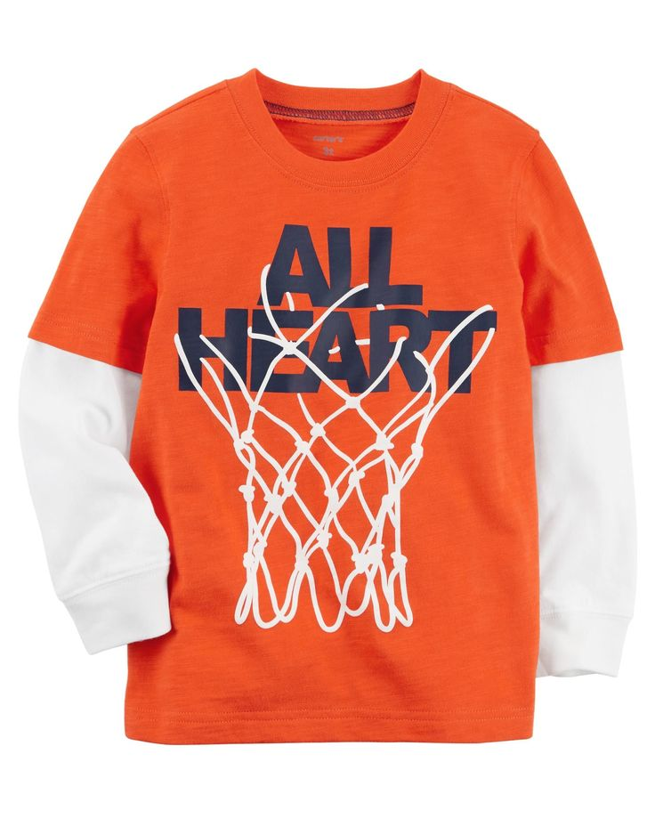 Baby Boy Basketball Layered-Look Jersey Tee | Carters.com