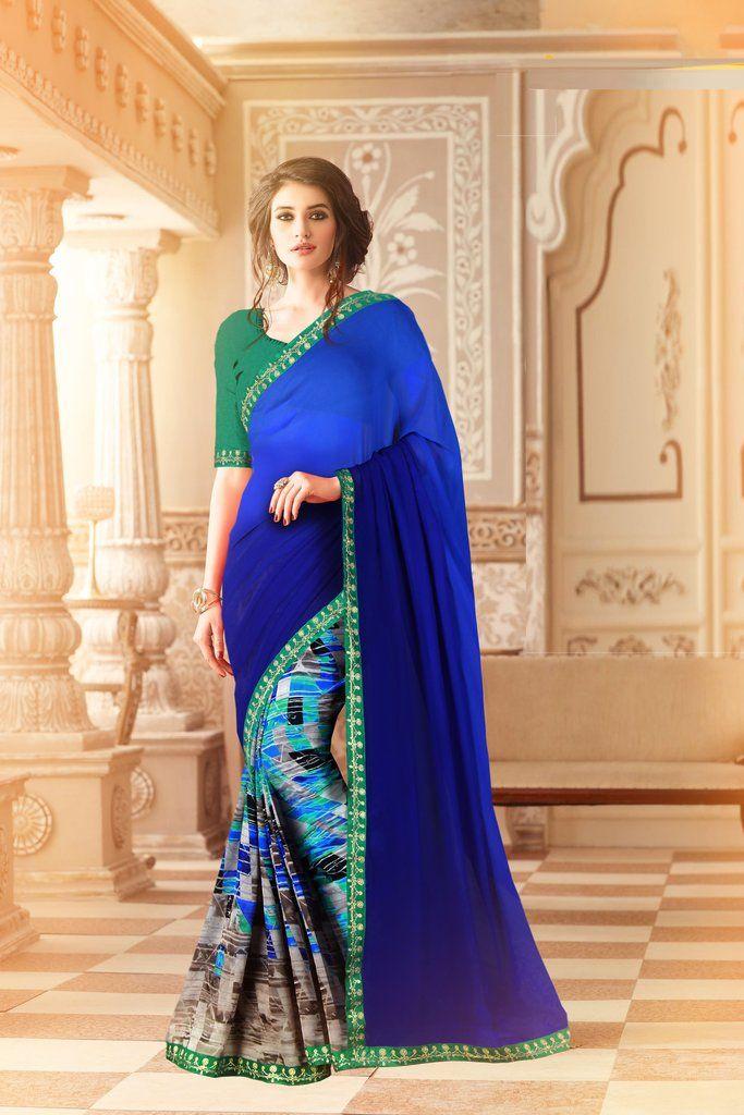 Heavy creap silk padding georget saree and blouse,indian saree,saree dress,dress for women,saris,wedding saree,sari,saree blue saree
