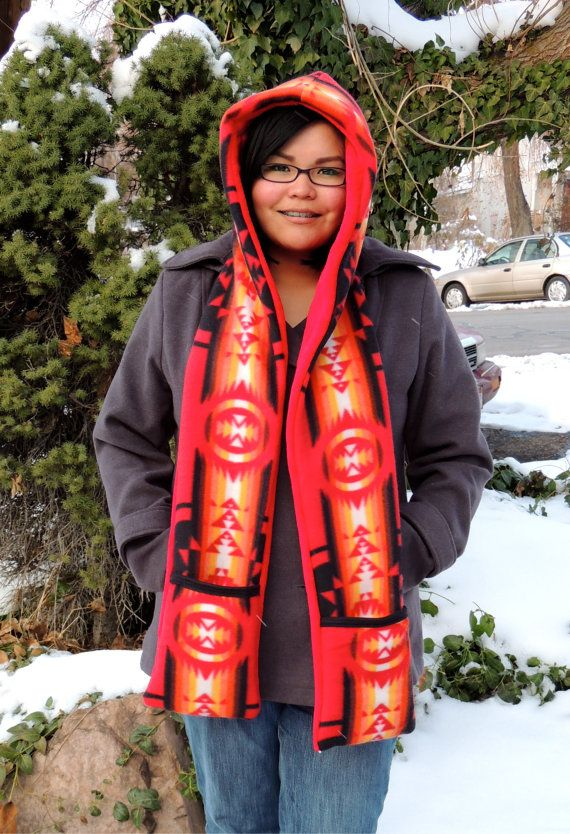 Native Hoods with Scarfs Adult by SheLahNanabahDesigns on Etsy