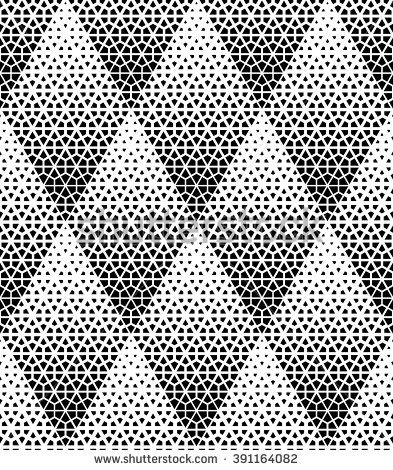 Modern stylish texture with rhombuses, hexagons. Vector seamless pattern. Repeating geometric tiles. White and black texture