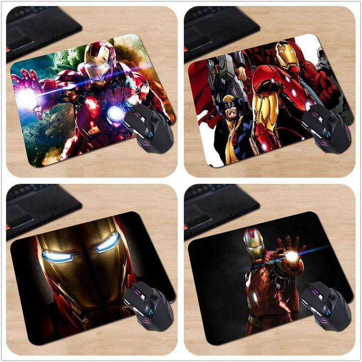 [Visit to Buy] Drop Shipping Customized Iron Man Gaming Mouse Mat Environmental Protection Rubber Cloth Mouse Pad #Advertisement