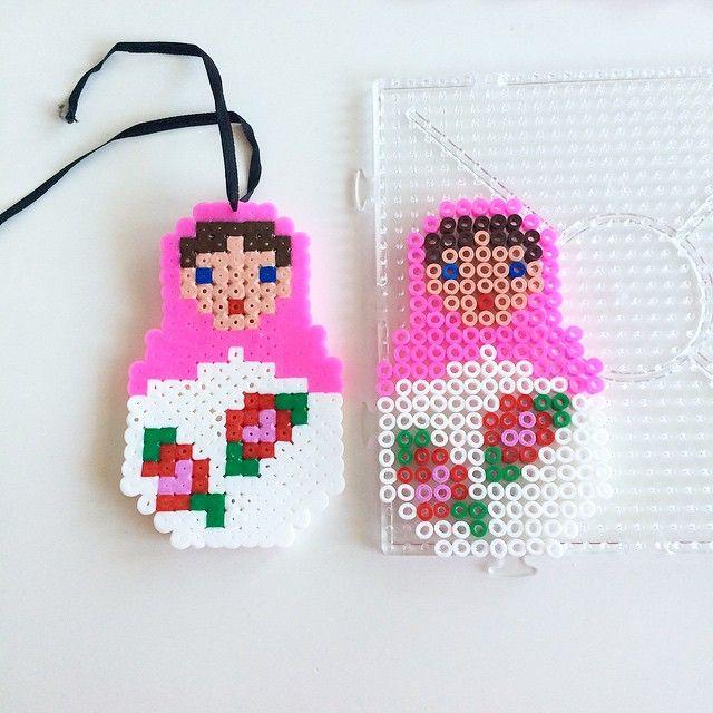 Matryoshka hama beads by annaidag