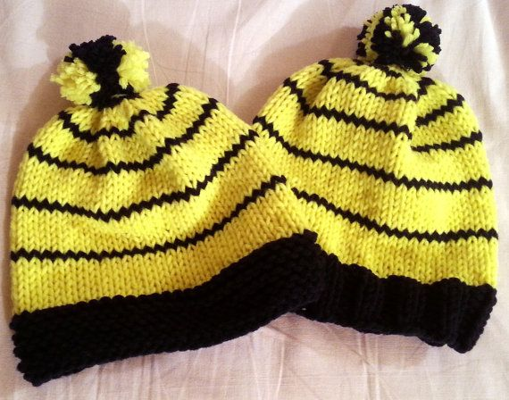 Fluorescent adolescent beanie by Stefily on Etsy