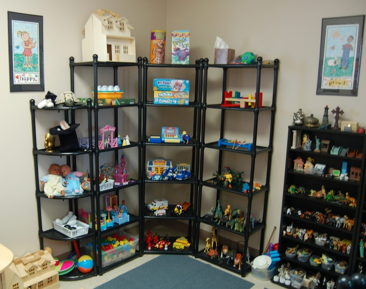 Play therapy room - Absolute no go for a school social worker but someday....in another place and another time ;) .