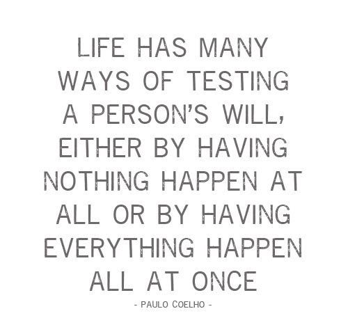 Life has many ways of testing a person's will...