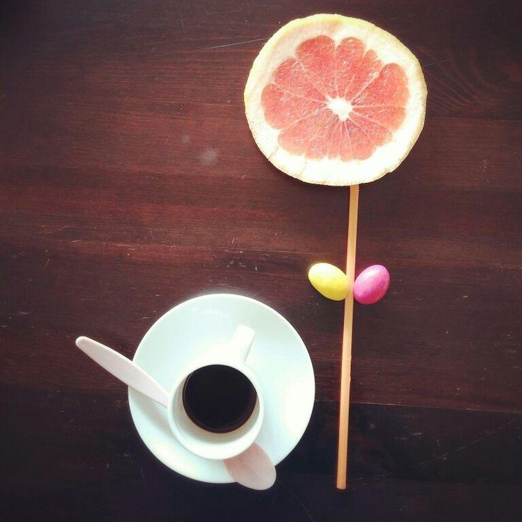 You are the sunshine of my life #breakfast #coffelover #grapefruit #creativityfood