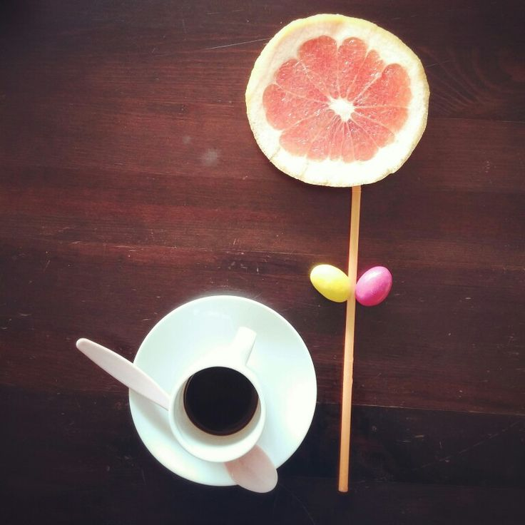 You are the sunshine of my life #breakfast #coffelover #grapefruit #creativityfood