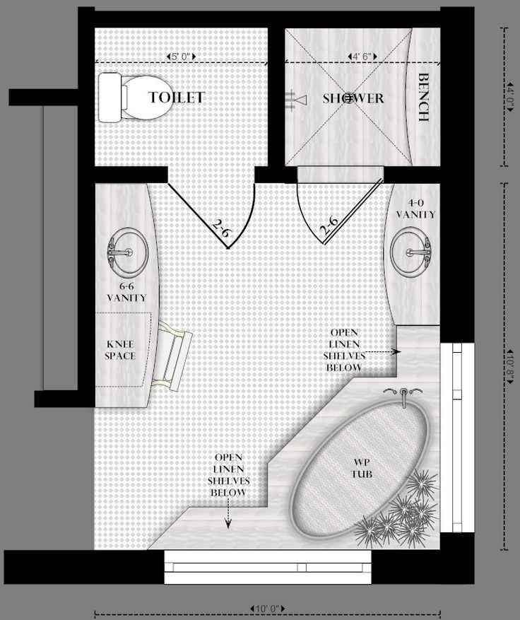 master bathroom floor plans | realize that ours has the hallway on an outside wall, but I thought ...