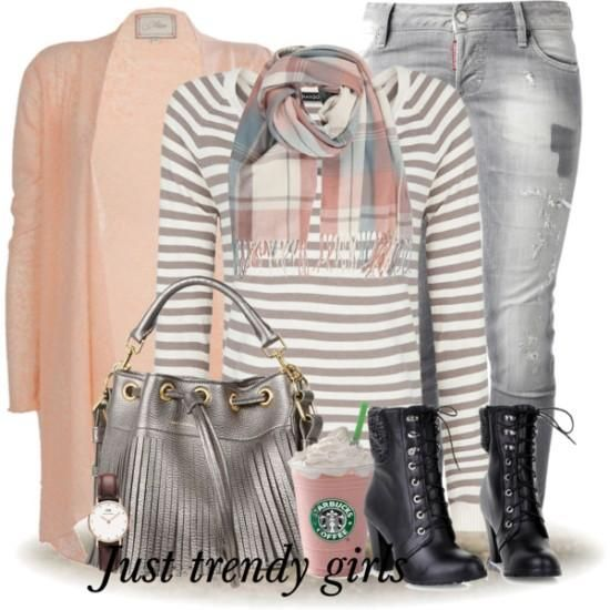 plaid gray tee with cardigan, Winter wardrobe essentials for Women http://www.justtrendygirls.com/winter-wardrobe-essentials-for-women/