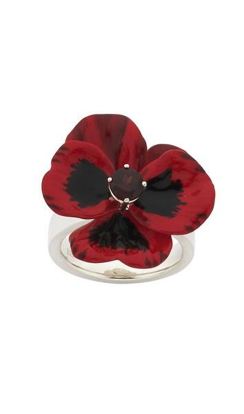 Red Pansy Ring. Karen Walker
