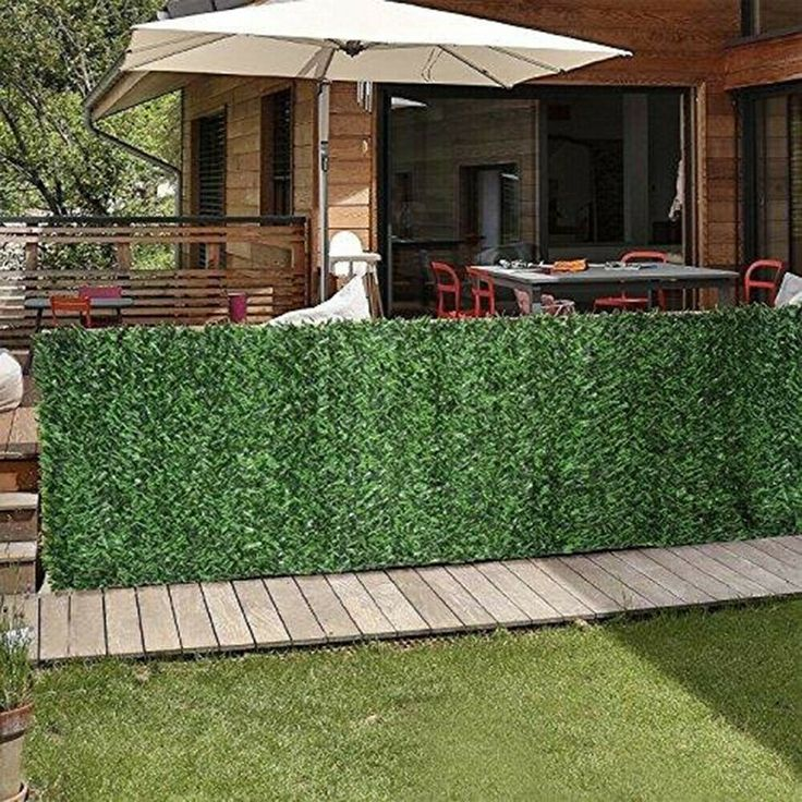 Artificial hedge privacy screen fence 65x10 slats panels