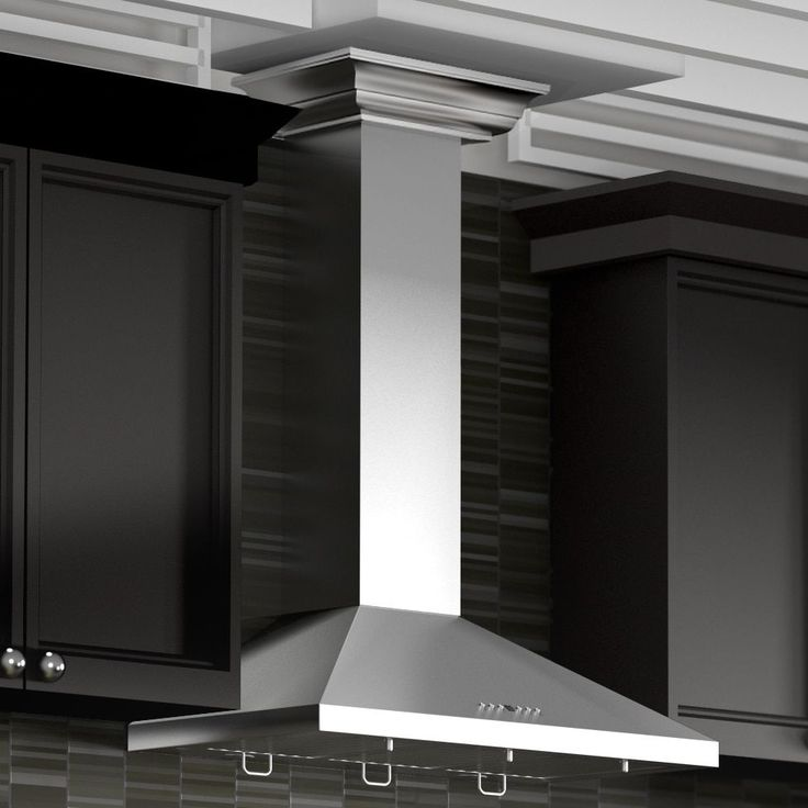 Zline 42-inch 760 CFM Wall Mount Range Hood in Stainless Steel (Silver) with Crown Molding (KL2CRN-42) (42 in.)
