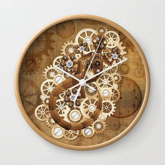Steampunk Gecko Lizard Vintage Style Wall Clock By BluedarkArt. Worldwide  Shipping Available At Society6.