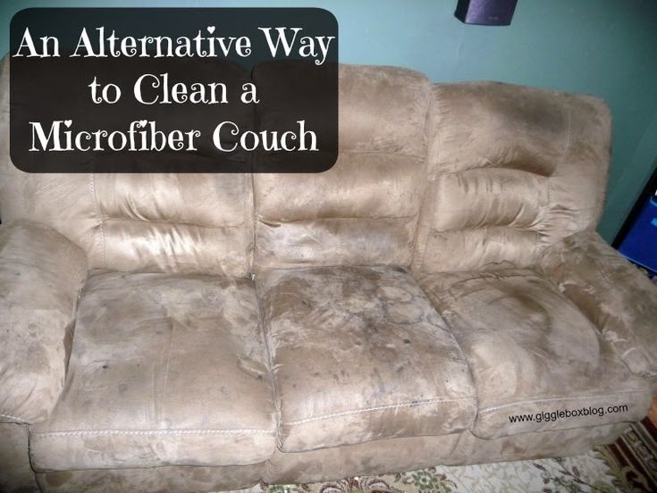 An Alternative Way to Clean a Microfiber Couch - Gigglebox Tells it Like it is - www.giggleboxblog.com