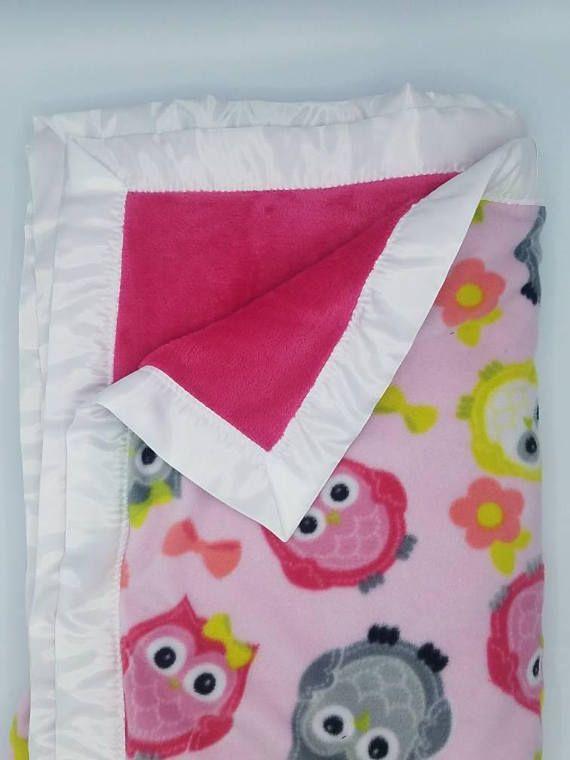 Owl Throw Blanket Gift For Mom Gift For Her Birthday Gift