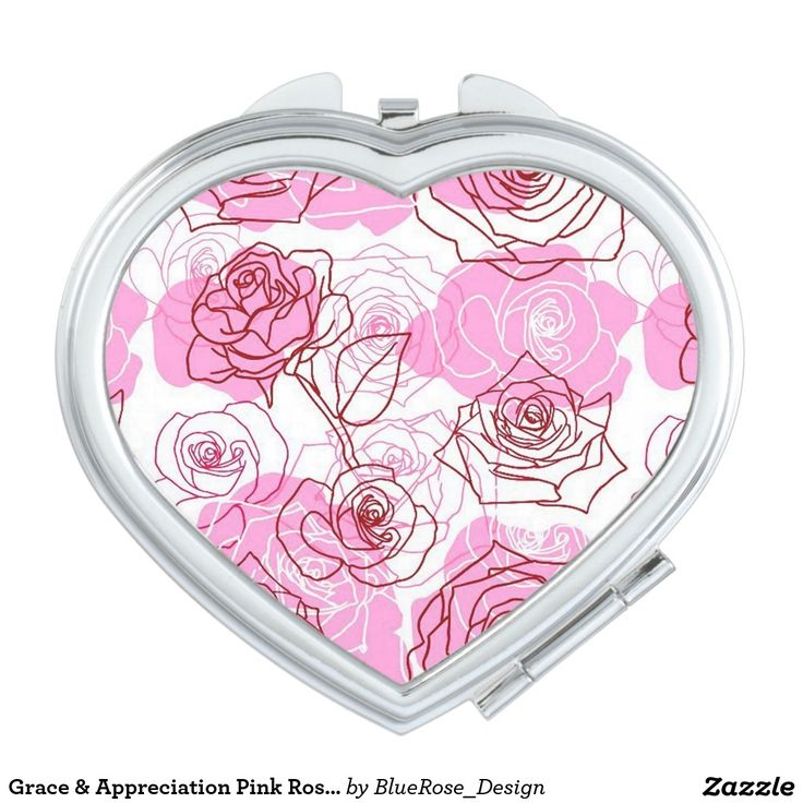 Grace & Appreciation Pink Roses Compact Mirror