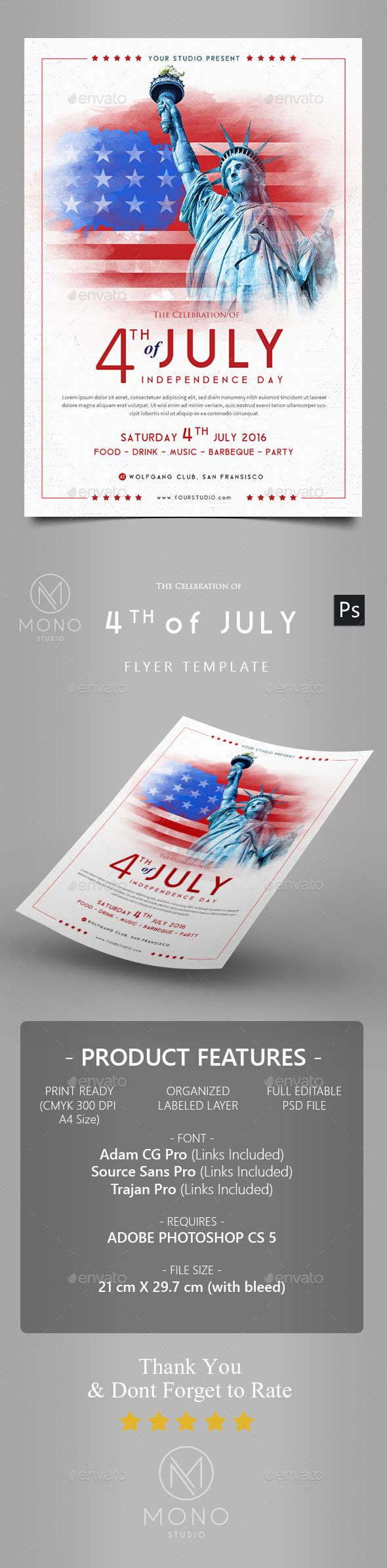 Poster design in photoshop 7 - 4th Of July Flyer 2