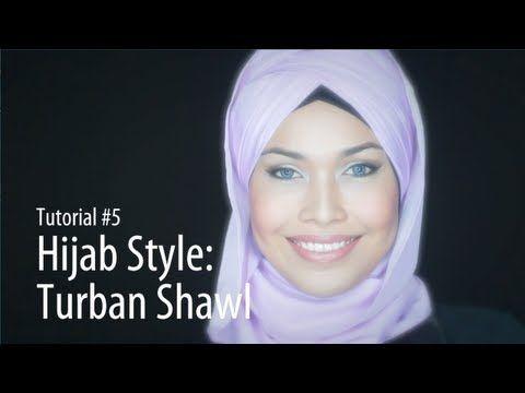 [Adlina Anis] Hijab Tutorial 5 | Turban Shawl - YouTube