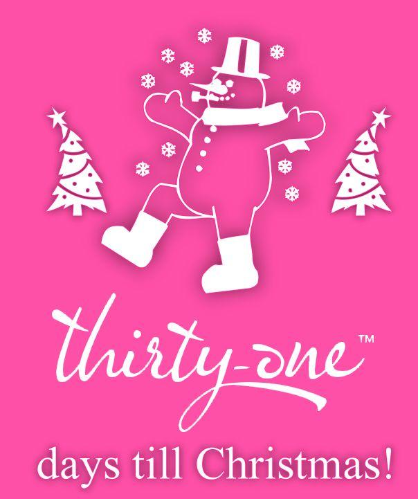 Thirty-One Days till Christmas! #ThirtyOne #Christmas FOLLOW on FB: http://www.fb.com/proverbs3120   SHOP: http://www.mythirtyone.com/bethanymcclure