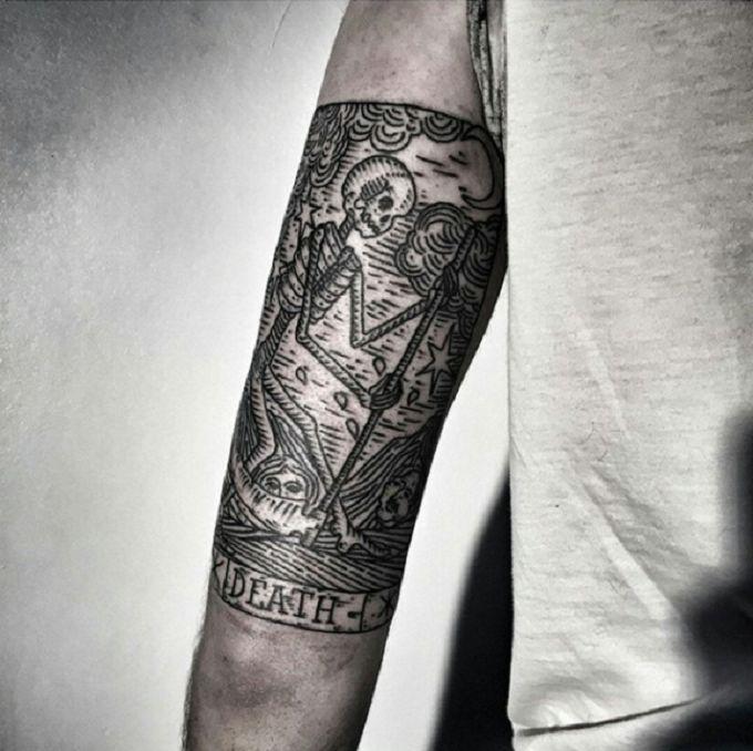 Les 25 meilleures id es concernant tatouage de carte de - Tatouage la mort ...