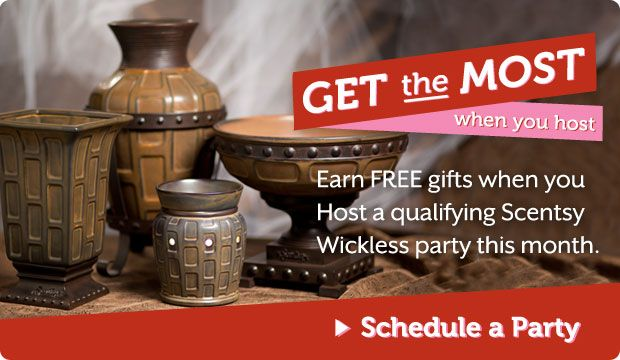 ♥ Get the Most When You Host: ♥ Want to treat yourself to a guilt-free present (or two or three)? Host a qualifying Scentsy party during our summer Host Exclusive and we'll reward you with up to three free gifts ♥ These custom-designed decorative pieces will add elegance to your décor, while bringing back memories of how you earned them ♥ YOU WILL EARN THIS IN ADDITION TO THE HOSTESS REWARDS, PLUS MY HOSTESS SPECIAL! CONTACT ME FOR DETAILS TODAY! LET'S PARTY!♥ http://charitajones.scentsy.us