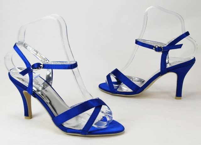 The 25 best royal blue wedding shoes ideas on pinterest royal womens royal blue satin high heels ladies shoes sz 3 8 junglespirit Image collections