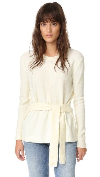 Madewell Tie Front Wrap Sweater | SHOPBOP