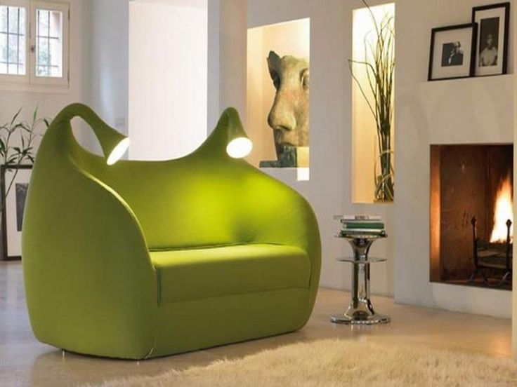 living room chair with built-in lights