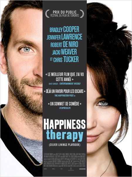 Silver Linings Playbook = Happiness Therapy (in France): Worth seeing. Both actors are great.