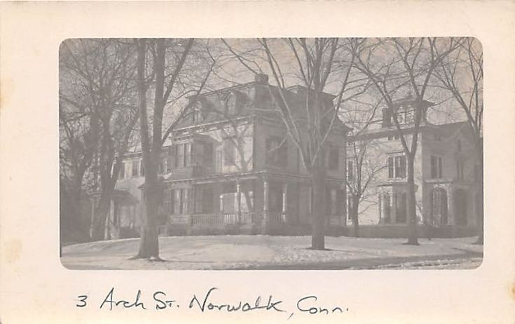 NORWALK, CT ~ 3 ARCH STREET RESIDENCE ~ REAL PHOTO POST CARD ~ c. 1910s | eBay