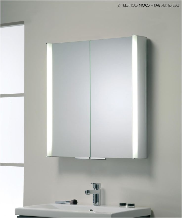 Light Bathroom Cabinets Luxury Cabinet Shaver Led Mirrors With Demister