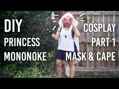 How to Make Mask and Cape : Part 1 of my Princess Mononoke Cosplay DIY - YouTube - COSPLAY IS BAEEE!!! Tap the pin now to grab yourself some BAE Cosplay leggings and shirts! From super hero fitness leggings, super hero fitness shirts, and so much more that wil make you say YASSS!!!