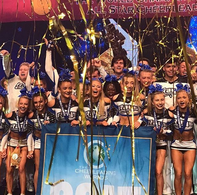 Stingray All Stars Steel 2017 Large Coed World champions  SILVER - Cheer Athletics Cheetahs   BRONZE - Top Gun TGLC  I'm so excited for steel after getting silver last year, and I'm happy for TGLC getting back on the podium after 4th last year!