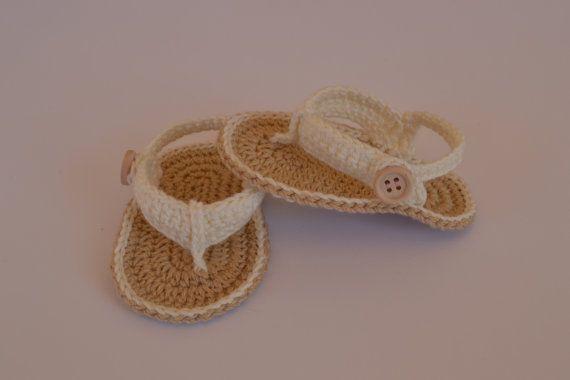 Gehaakte baby sandalen. Gehaakte slofjes voor door BabyBootsBoutique