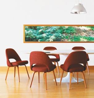 Saarinen Oval Dining, Armless Chair