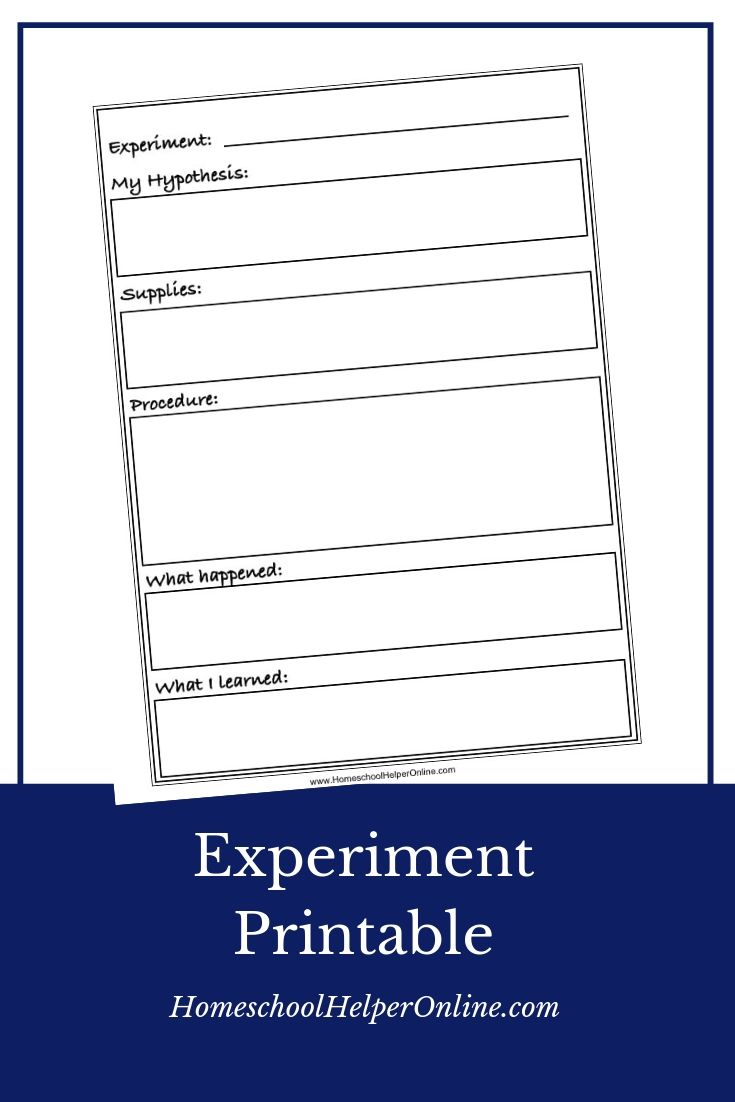Experiment Notebooking Page Free Homeschool Printables Homeschool Science Middle School Lesson Plans