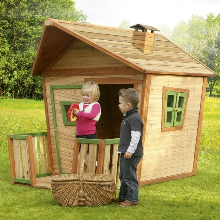Kids Outdoor Playhouse Garden Play Backyard Wooden Activity Porch Cabin Lodge #KidsOutdoorPlayhouse