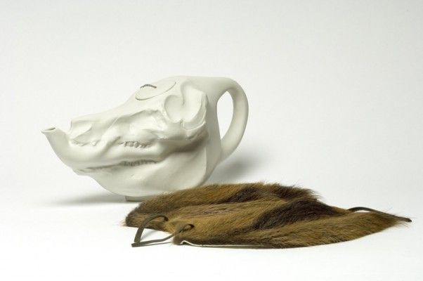 This daring design classic—the High Tea Pot by Studio Wieki Somers—turns the polite activity of tea drinking on its head. The Dutch designer surprises us by modelling her teapot on the shape of a pig's skull. This piece is included in the collections of both the V&A and MoMA –– Shop –– Pamono