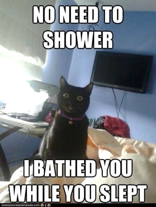 No need to shower