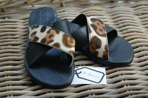Sofia Slide - St. Moritz Design - Summer Shoes, Handbags, Slides and Accessories. Flat Leather Slides