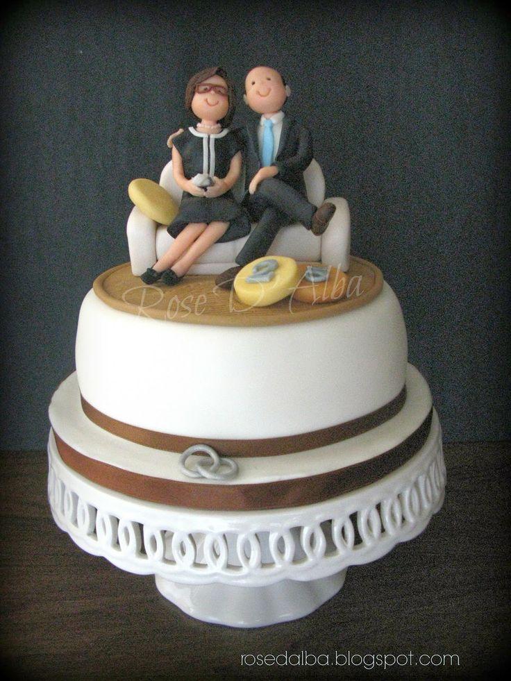 Rose d 39 alba una torta per i 25 anni di matrimonio di for 25 anni matrimonio