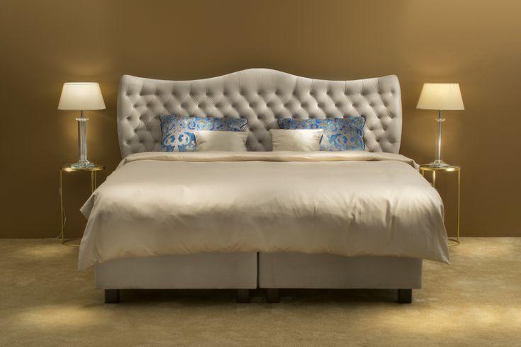 Luxurious BoxSpring Bed #bed #boxspring #boxspringbed #bedroom #bedroominspiration #beds #upholstered #upholsteredbed