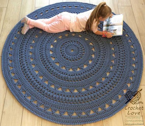 Crochet Rug Doily Rug Round Carpet Crochet Round Rug Etsy Knit Rug Crochet Rug Doily Rug