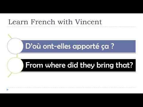 (100) Learn French with Vincent # Unit 1 # Lesson T # The questions with D'OÙ - YouTube