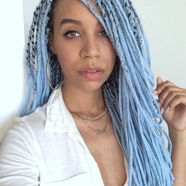 Best 25+ Blue box braids ideas on Pinterest | Box braid ...