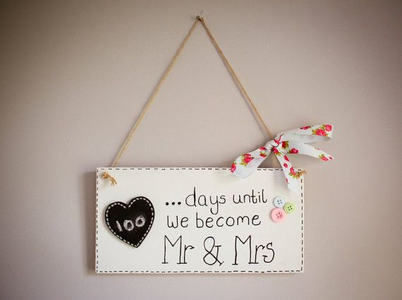 Mr & Mrs Wedding Countdown by yourbridesmade on Etsy, £6.00
