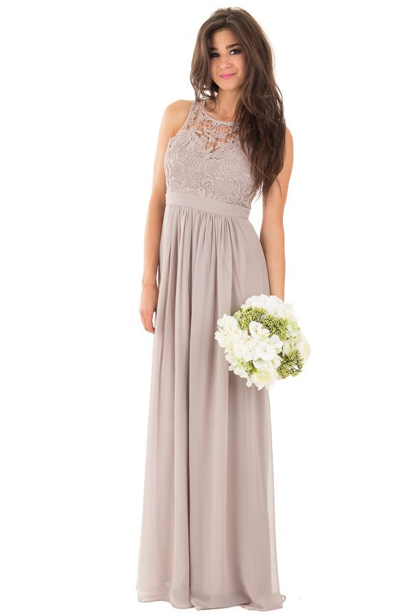 Lime Lush Boutique - Taupe Woven Maxi Dress with Crochet Bodice, $49.99 (https://www.limelush.com/taupe-woven-maxi-dress-with-crochet-bodice/)