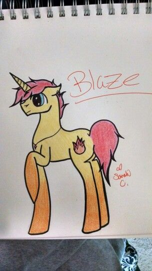 Blaze Fire Ruby, Wisp, and Element Glow's father by Sarah C. NO REPINS