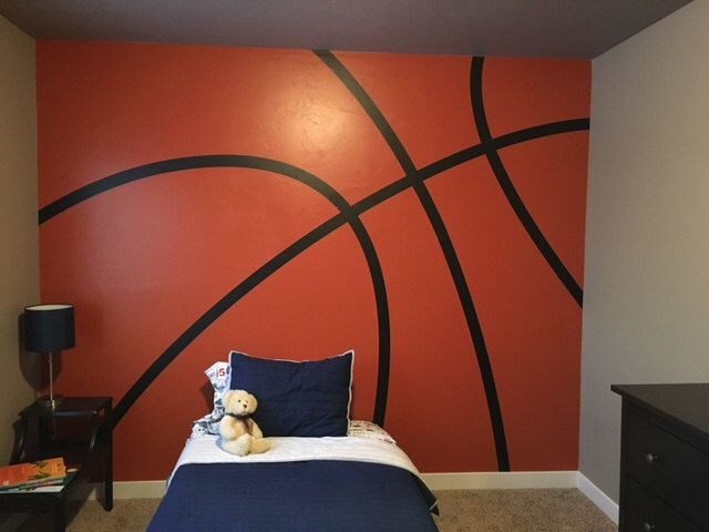 A personal favorite. Basketball wall decal stripes. How cool would your son think you were if you surprised him with this! If you haven't seen vinyl lettering stickers before check out this site. They have videos that show you what the new craze is all about. www.vinyl4decor.com